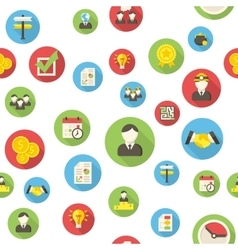 Seamless pattern with business icons vector image vector image