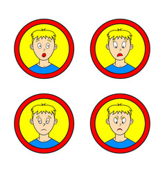 set of comic boy vector image vector image