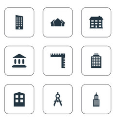 set of simple structure icons vector image vector image
