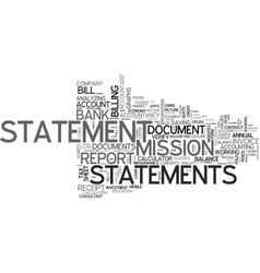 Statements word cloud concept vector