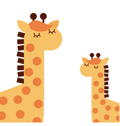 tender cute giraffe card icon vector image