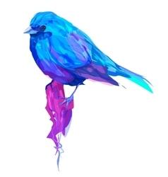 The cute exotic bird head vector