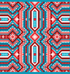 Vivid ethnic tribal seamless pattern aztec style vector