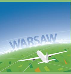 Warsaw flight destination vector
