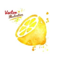 Watercolor lemon vector image vector image