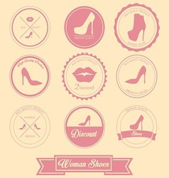 Woman Shoes Label Design vector image vector image