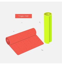 Yoga mat vector