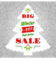 Winter and christmas big sale abstract vector
