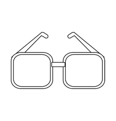Isolated glasses accessory design vector