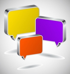 Set of colourful 3D speech icons vector image