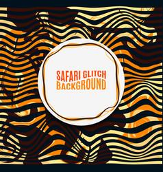orange striped safari glitch background vector image