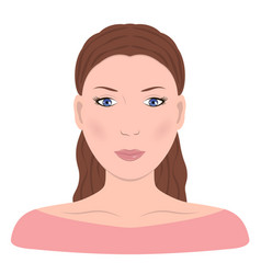 young girln face beautiful woman vector image