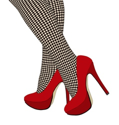 The checkered fishnet stockings vector