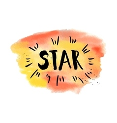 A star phrase inspirational motivational quote vector