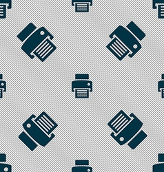 Fax printer icon sign seamless pattern with vector