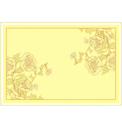 invitation with floral vector image