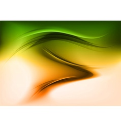 abstract smoke green orange vector image vector image