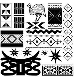 Ancient african pattern vector