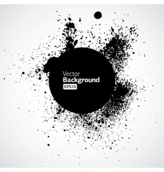 Black grunge ink splat shapes vector image vector image