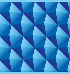 Blue triangles seamless pattern vector