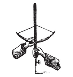 Bow drill vintage vector