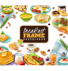 breakfast frame background vector image
