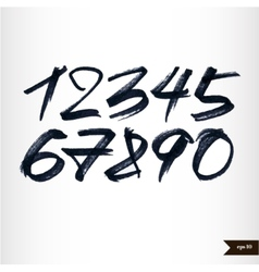 Calligraphic watercolor numbers vector image vector image