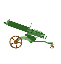 cannon artillery gun war old army weapon military vector image