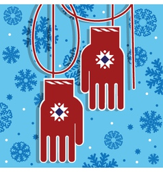 Christmas gloves vector