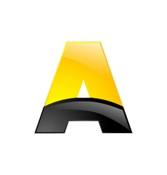 Creative yellow and black symbol letter a for your vector