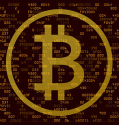 Cryptocurrency and blockchain technology concept vector