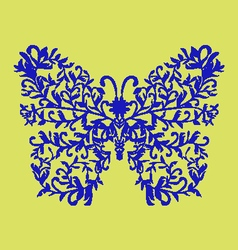 Elegant decorative butterfly vector