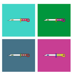 Flat icon design collection army knife vector