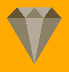 Flat icon on stylish background diamond expensive vector