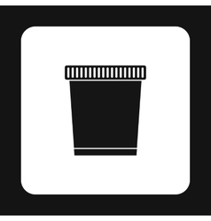 Garbage can icon simple style vector