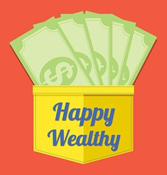 Happy wealthy vector