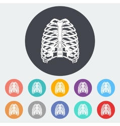 Icon of human thorax vector image vector image