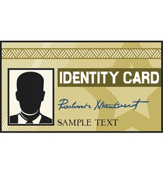 identity card vector image vector image