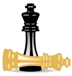 king checkmate vector image