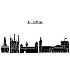 lithuania architecture city skyline travel vector image