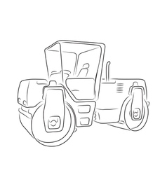 Original road roller vector