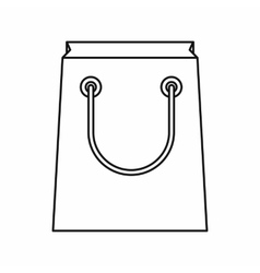 Paper bag icon outline style vector image vector image