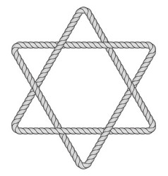 rope hexagram icon vector image vector image