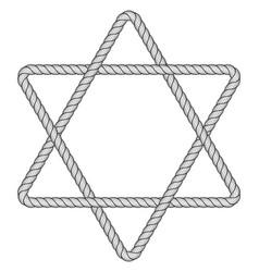 rope hexagram icon vector image
