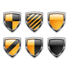 shield security icons vector image vector image