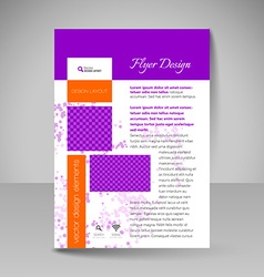 Site layout for design - flyer vector image