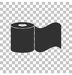 Toilet paper sign dark gray icon on transparent vector