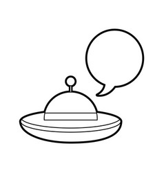Ufo flying with speech bubble vector