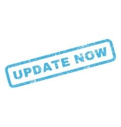 Update now rubber stamp vector