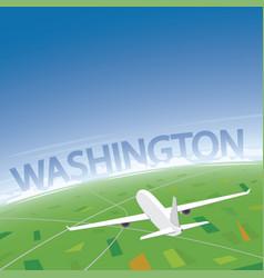 Washington flight destination vector